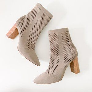 Charles David Tan Ankle Boot with Block Heel